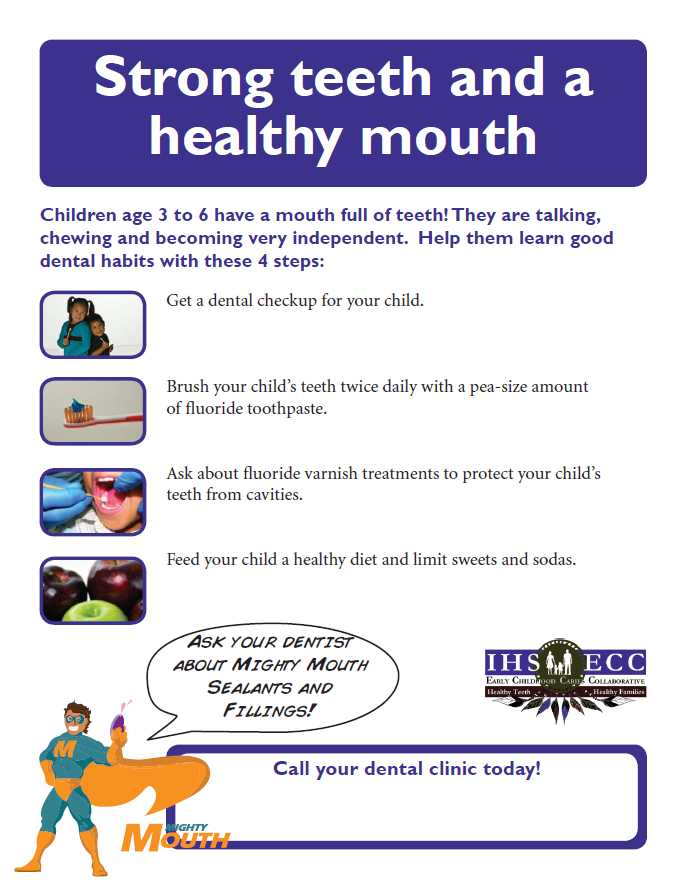 Strong teeth and a healthy mouth Flyer
