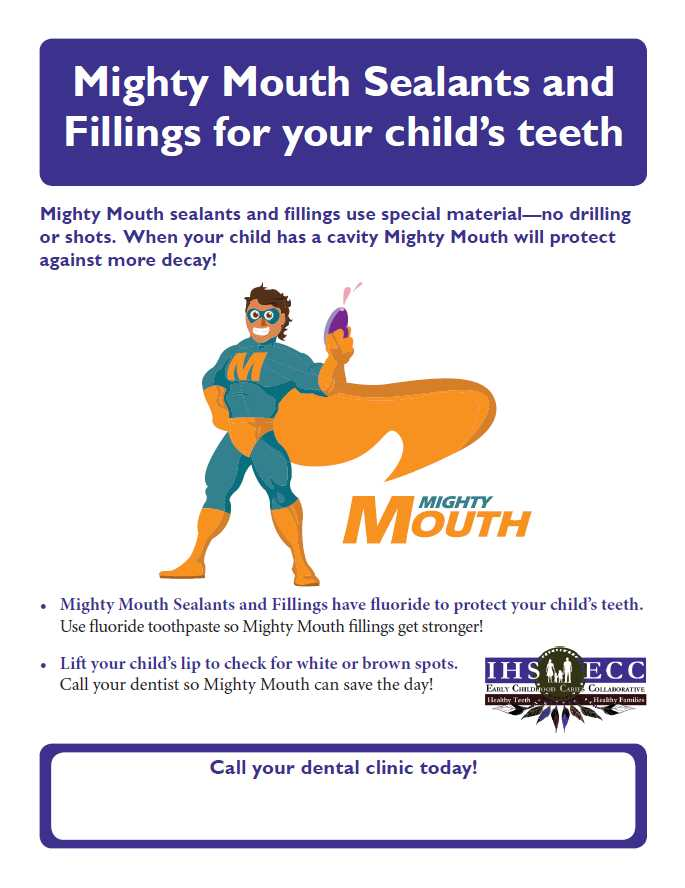 Mighty Mouth Sealants and Fillings for your child's teeth Flyer