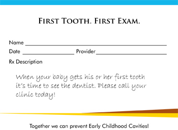 IHS Division of Oral Health ECC Collaborative Rx Pad