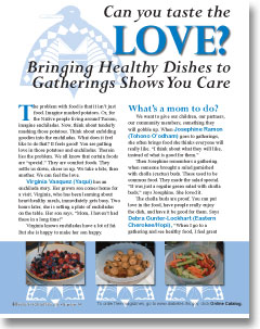 Can you taste the LOVE? Bringing Healthy Dishes to Gatherings Shows You Care