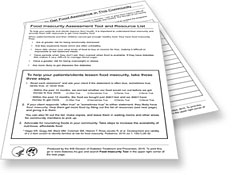 Food Insecurity Assessment Tool and Resource List