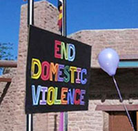 An End Domestic Violence sign