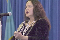 Joanne Shenandoah - Iroquois - Member of the Wolf Clan of the Oneida Nation - American Indian/Alaska Native Heritage Program