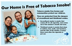 Tobacco free information card