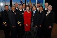 Left to Right: Dr. Charles Grim, Dr. Leonard Thomas, Russell Pederson, Dr. Richard Church, John Doherty, Mary Lou Stanton, Pete Conway, Shirl Eastep, Doug Black, Chris Mandregan, Chuck North, and Robert McSwain