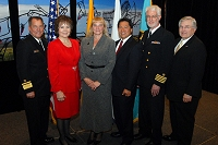 Left to Right: Dr. Charles Grim, Mary Lou Stanton, Sandra Winfrey, Chris Mandregan, Chuck North, and Robert McSwain