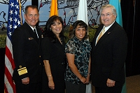 Left to Right: Dr. Charles Grimm, Martha Ketcher, Raelyn Pecos, and Robert McSwain