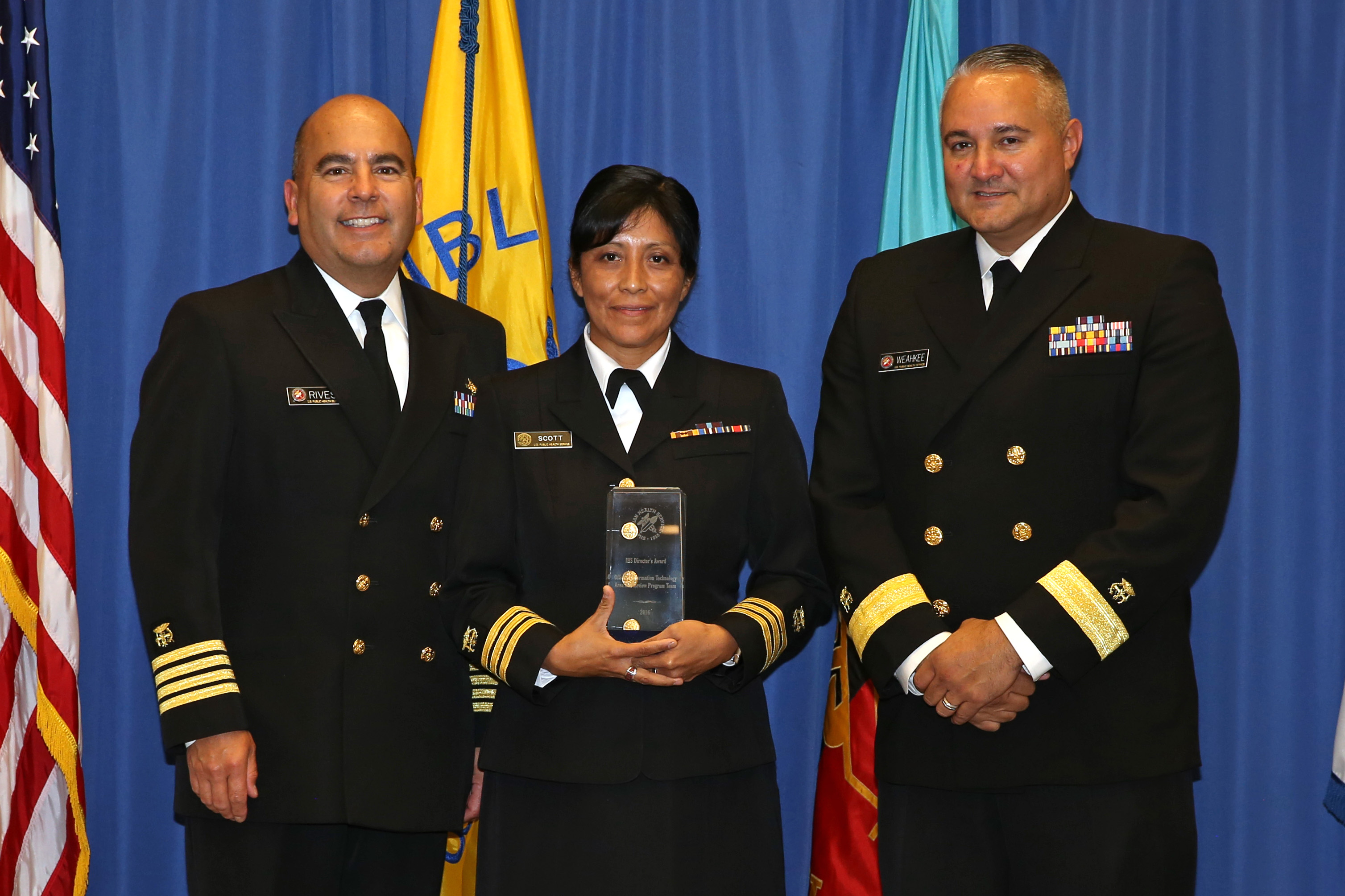 2016 Director's Award - Team - LCDR Andrea Scott on behalf of Office of Information Technology Area Site Review Program Team (HQ)