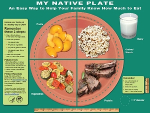 My Native Plate is an easy way to help your family know how much to eat.
