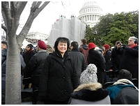 Thumbnail - clicking will open full size image - Dr. Roubideaux at the Presidential Inauguration