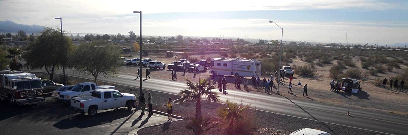 View of Arizona's first local, multi-agency emergency preparedness exercise in Parker, Arizona.
