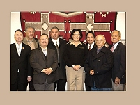 Thumbnail - clicking will open full size image - Comanche Tribe delegation and RADM Sandra Pattea, Deputy Director for Intergovernmental Affairs
