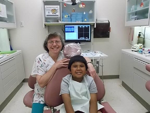 Dr. Marybeth Johnson is a pediatric dentist at the Hopi Health Care Center.