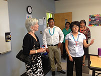 Thumbnail - clicking will open full size image - Secretary Sebelius at Navajo Office of Youth Development