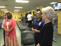 Thumbnail - clicking will open full size image - Secretary Sebelius at Navajo SDPI Wellness Center
