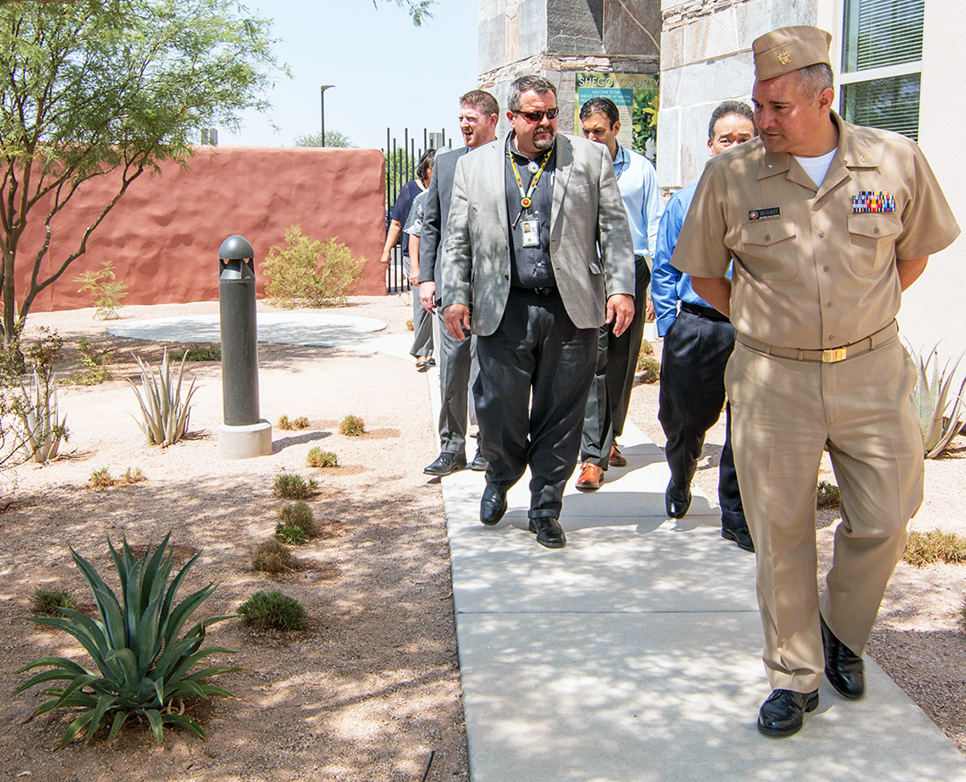 Acting Director Rear Adm. Weahkee and IHS representatives toured the Red Tail Hawk Health Center in Chandler, Ariz. on August 1, 2018