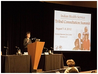 Thumbnail - clicking will open full size image - IHS Tribal Consultation Summit August 2012