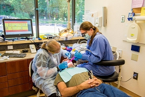 Externs are able to perform examinations, cleanings and minor extractions.