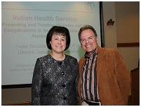 Thumbnail - clicking will open full size image - Dr. Roubideaux with Dr. Spero Manson, Director SDPI Coordinating Center