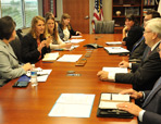 Thumbnail - clicking will open full size image - U.S. Department of Health and Human Services Secretary Sylvia Burwell at IHS Headquarters, July 2014