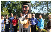 Thumbnail - clicking will open full size image - Blessing of Totem and Exhibition presentation