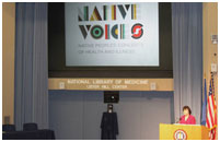 Thumbnail - clicking will open full size image - Native Voices Opening Event