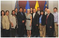 Thumbnail - clicking will open full size image - STAC members with Secretary Sebelius