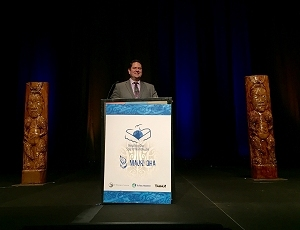 IHS Office of Tribal Self-Governance Director Ben Smith presented at the Healing Our Spirit Worldwide conference on advancing innovation and new opportunities to achieve health equity for American Indians and Alaska Natives.