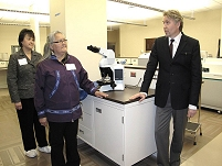 Thumbnail - clicking will open full size image - Laboratory space at the Samuel Simmonds Memorial Hospital.