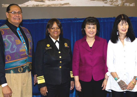 IHS Director with Surgeon General and Joy Harjo
