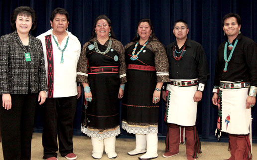 IHS Director with Acoma Pueblo Dancers at White House Native American Heritage Month Event