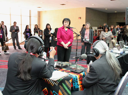 IHS Director speaking to Native America Calling