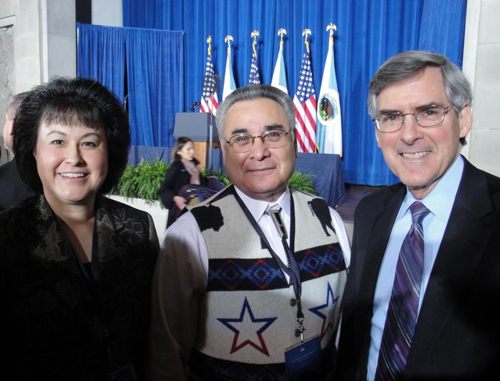 Director with Jefferson Keel, President NCAI and Bill Corr, HHS Deputy Secretary
