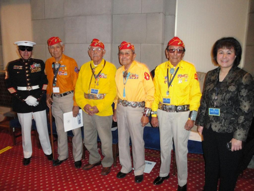 Director with Navajo Code Talkers