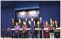Thumbnail - clicking will open full size image - Champions of Change ? Native youth leaders (NCAI photo)