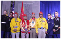 Thumbnail - clicking will open full size image - Navajo Code Talkers (NCAI photo)