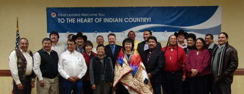 Dr. Roubideaux with members of Billings Area Tribes