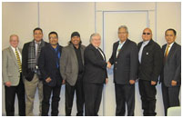 Thumbnail - clicking will open full size image - San Carlos Tribal Delegation with Bob McSwain