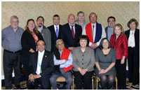 Thumbnail - clicking will open full size image - Dr. Roubideaux with the Tribal Self-Governance Advisory Committee