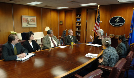 Tribal leaders meet with HHS Secretary Sebelius in her office