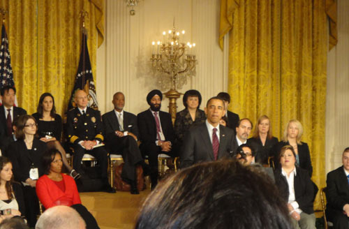 President Obama speaking at the White House Conference on Bullying Prevention