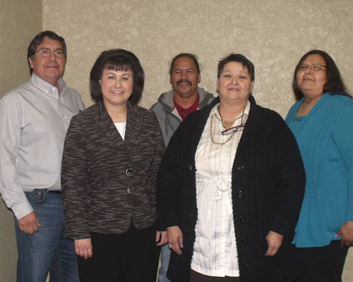Rosebud Sioux Tribe members with Dr. Roubideaux