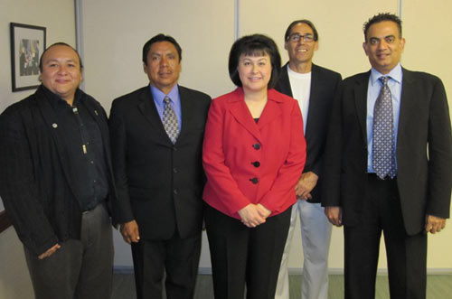 Dr. Roubideaux with Pueblo of Jemez Delegation