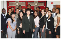 Thumbnail - clicking will open full size image - Dr. Roubideaux with the Barbara Jordan Health Policy Scholars
