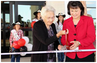Thumbnail - clicking will open full size image - Ribbon Cutting Ceremony Cheyenne River