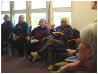Thumbnail - clicking will open full size image - Meeting with Tanana Elders