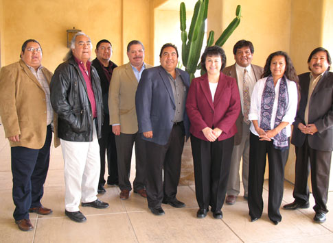 Dr. Roubideaux with representatives from the Tohono O'odham Nation and the Pascua Yaqui Tribe