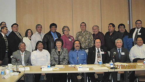 IHS Tribal consultation process workgroup members with Dr. Roubideaux
