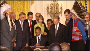 President Obama signing the Tribal Law and Order Act, July 29, 2010.