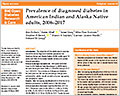 Prevalence of diagnosed diabetes in American Indian and Alaska Native adults, 2006-2017